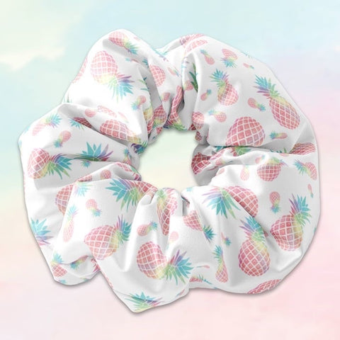 Pineapple pink scrunchie
