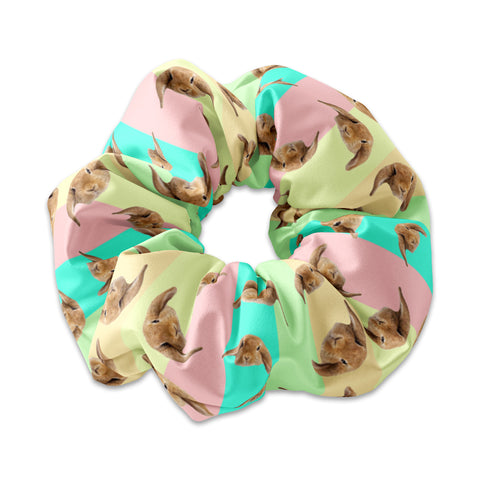 Lucky Rabbit Head Easter Scrunchie