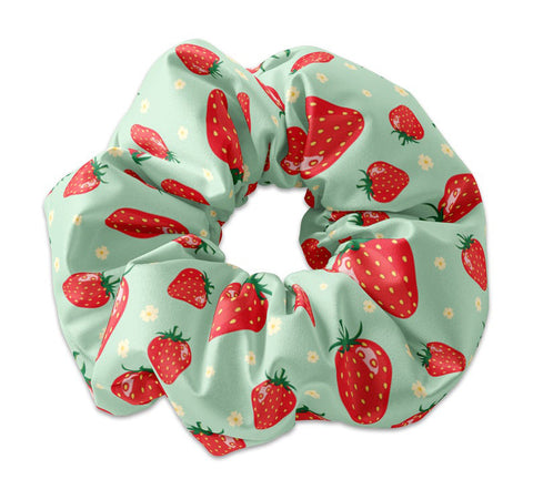 Summertime Strawberry Scrunchie - Sunfloura Scrunchies