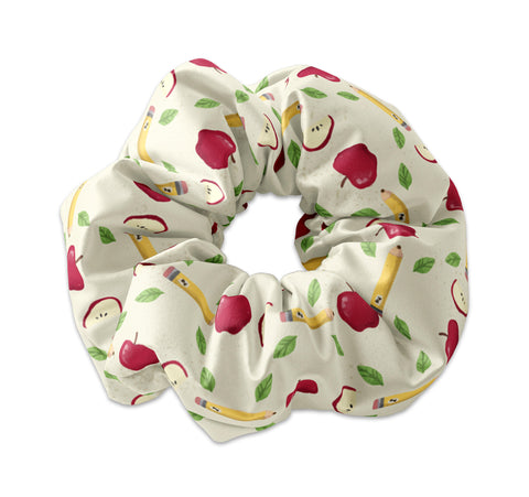 Back to School Apples and Pencils Themed - Sunfloura Scrunchies