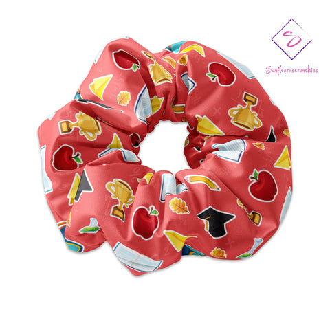 Back To School Themed Scrunchie - Sunfloura Scrunchies
