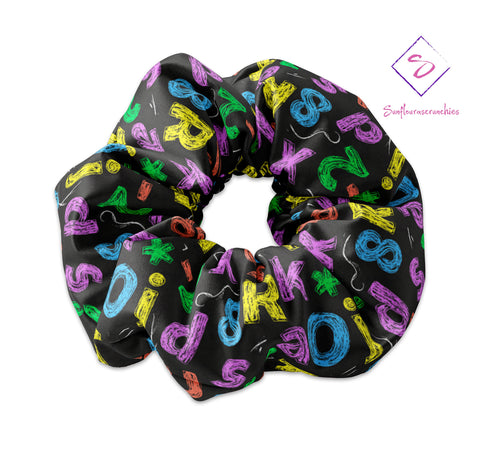 Back to School Colored Chalk - Sunfloura Scrunchies