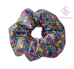 Back to School Colorful Alphabet Scrunchie - Sunfloura Scrunchies
