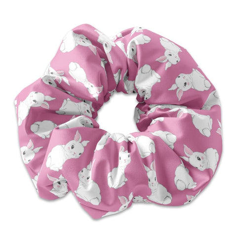 White Bunnies Scrunchies