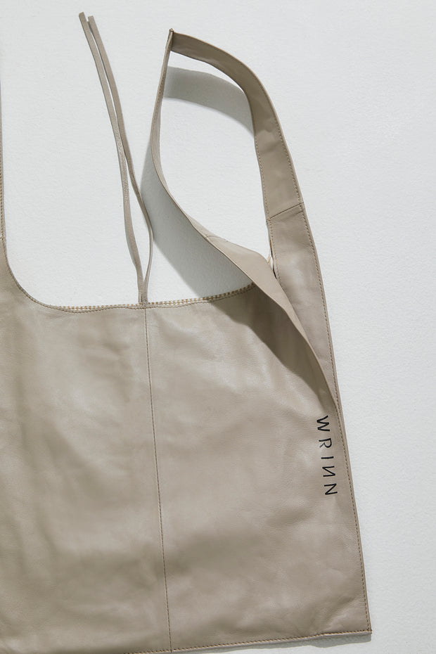 Revive Leather Bag Beige