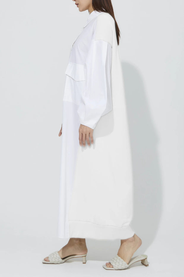 Back Jersey One-Piece White X White