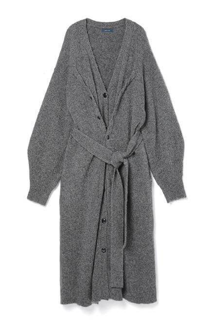 Double button cardigan Charcoal Gray