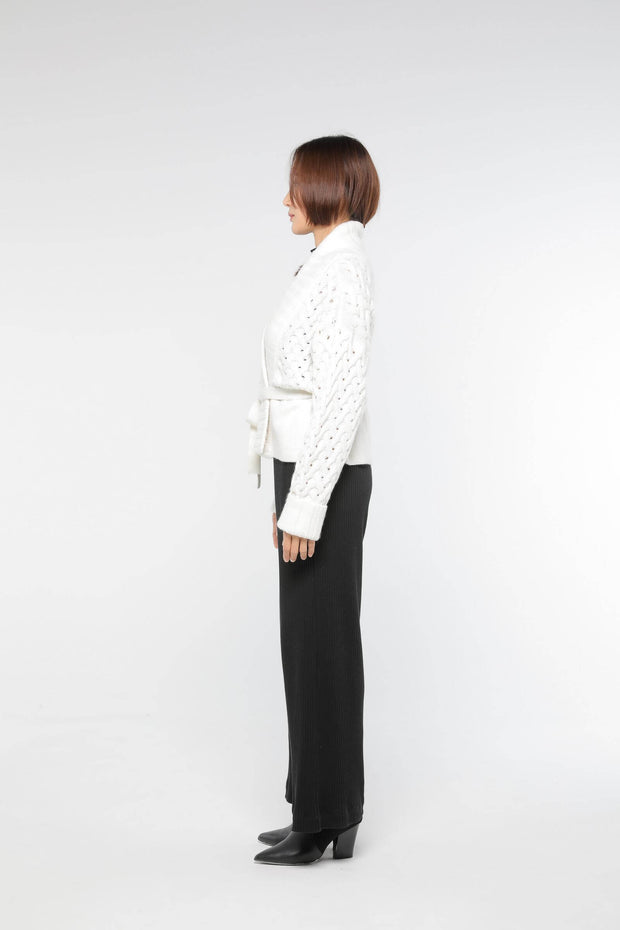 Low gauge short cardigan Off White