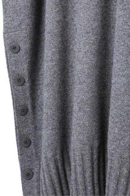 Cashmere side slit Charcoal Gray