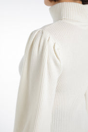 Cashmere puff sleeve Off White