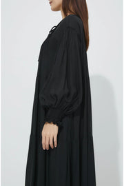 Pintuck One-Piece Black