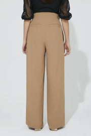 High Waist Tuck Pants Camel