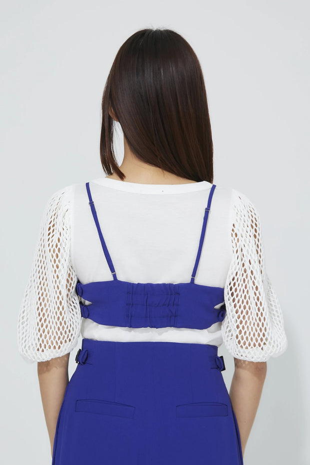 Side Belt Bra Top Blue