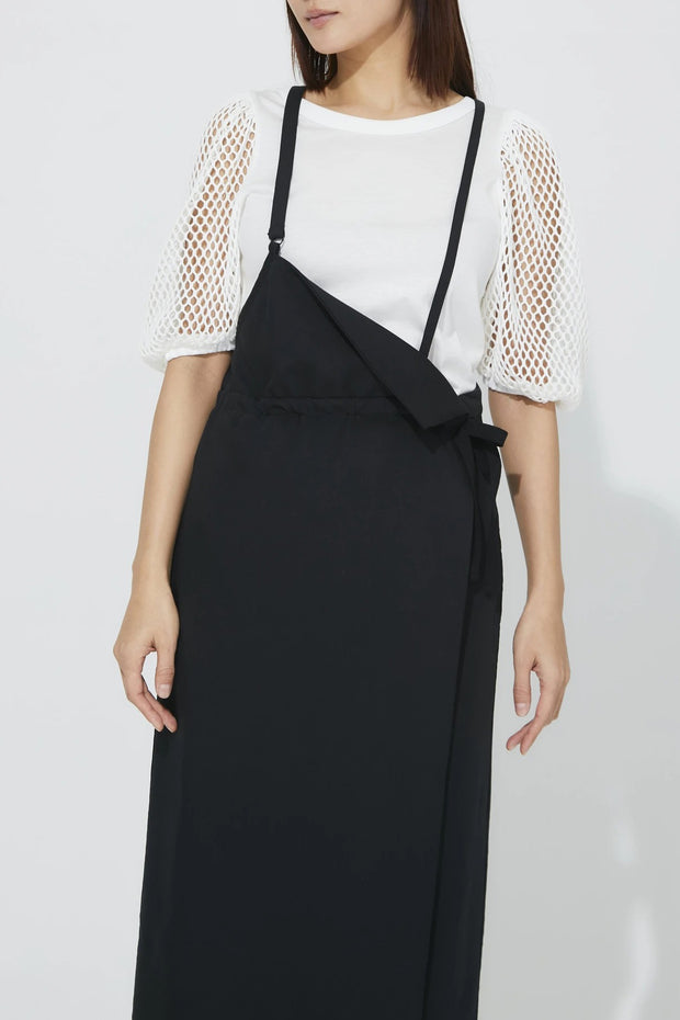 One shoulder Jumper skirt Black