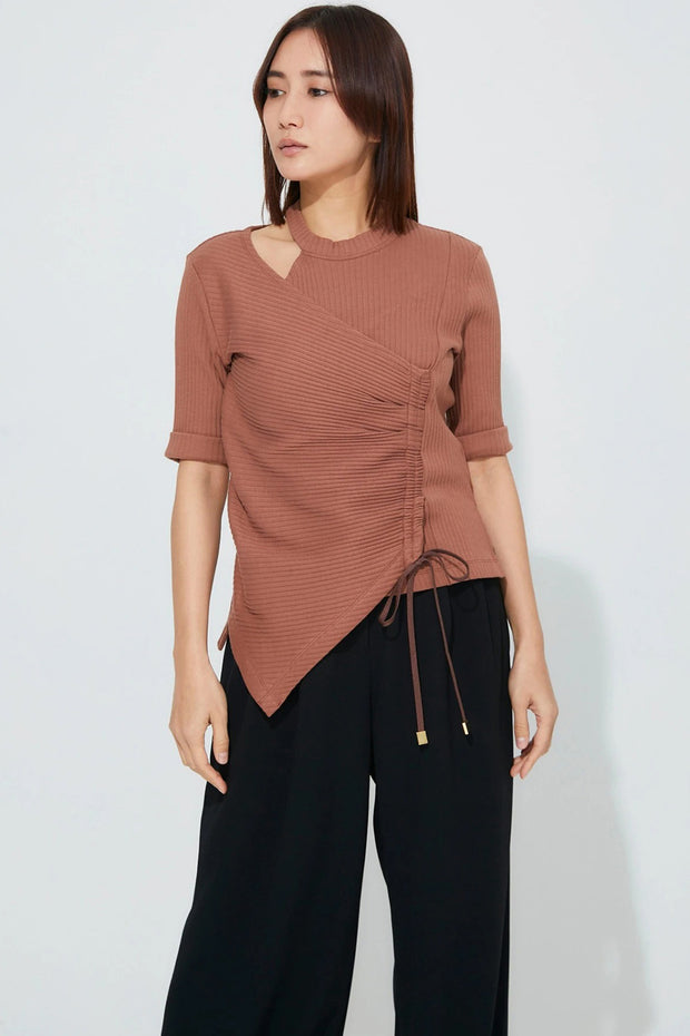 Wide Rib Tops Camel