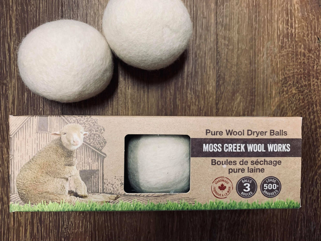 Balles de séchage par Moss Creek Wool Works