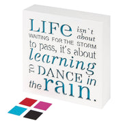Dance in The Rain - Home Decor Signs, Decorative Signs, Inspirational Plaques,Wooden Signs with Sayings Inspirational Gifts