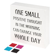 KAUZA One Small Positive Thought Inspirational Wall Art Plaques with Sayings Motivational Gifts Office Decoration