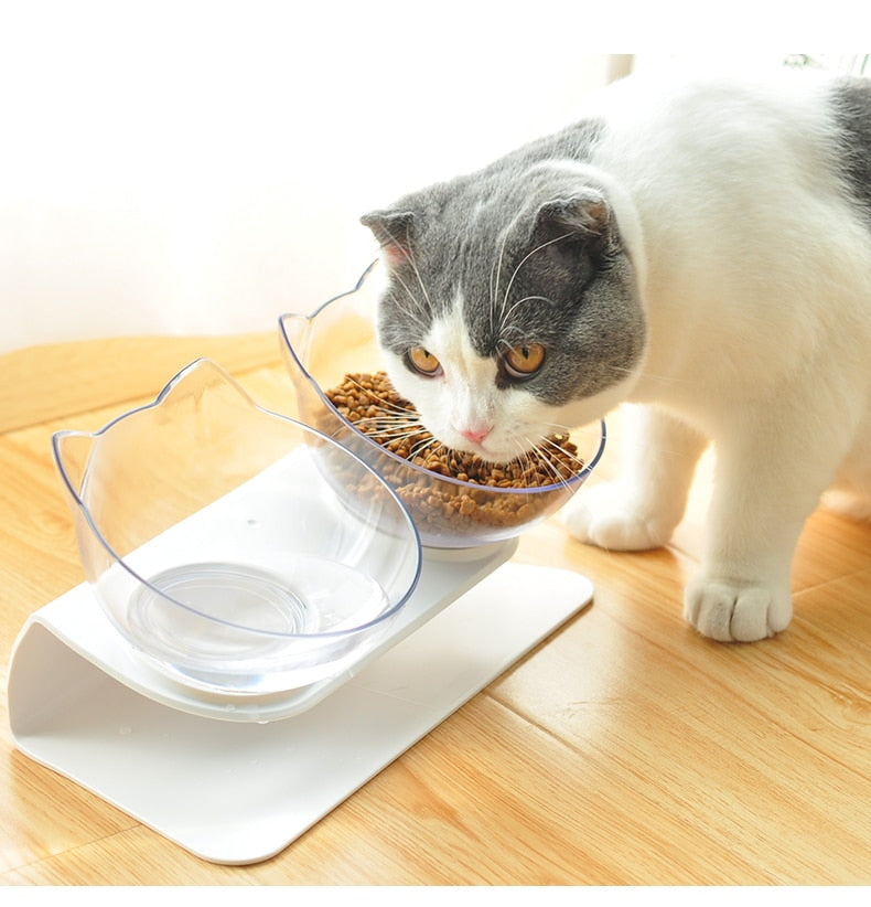 The CatSherpa™ Elevated Ergonomic Food Bowl