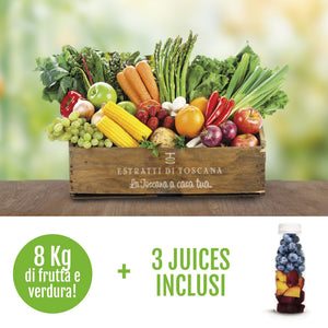 Cassetta media 8 kg + 3 juices inclusi