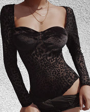 "Load image into Gallery viewer, ""Velvet Leopard"" Bodysuit"