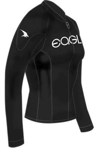 Eagle Womens FreeFlex Heater Shirt Front Zip (Wakeboarding, Trick Skiing / Shortboard, Swivel Water Skiing, Slalom Water Skiing, Show Skiing, Kneeboarding, Jumping, Hydrofoiling, Barefooting)