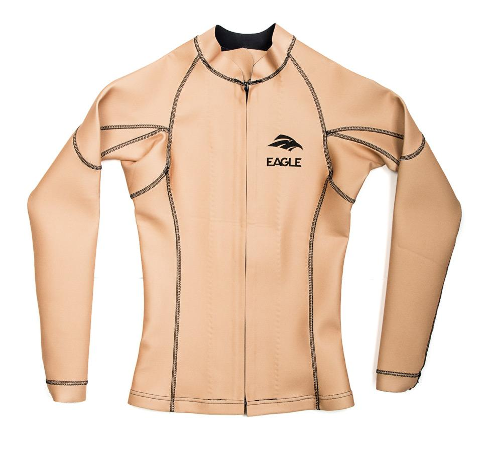 Eagle Womens FreeFlex Heater Shirt Front Zip - Nude Color (Wakeboarding, Trick Skiing / Shortboard, Swivel Water Skiing, Slalom Water Skiing, Show Skiing, Kneeboarding, Jumping, Hydrofoiling, Barefooting)