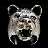 Excellent crafted Animal Ring Female Lion Lioness Sterling Silver 925 - BikeRing4u