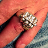 Excellent crafted Sterling Silver Biker Ring Knuckle Duster Fist - BikeRing4u