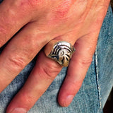 Excellent crafted Men's Sterling Silver Roman Centurion Ring - BikeRing4u