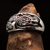 Excellent crafted Men's Animal Band Ring Dragon Snake Sterling Silver 925