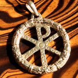 Ancient Chi Rho Sterling Silver Christian Monogram Pendant Christogram - BikeRing4u