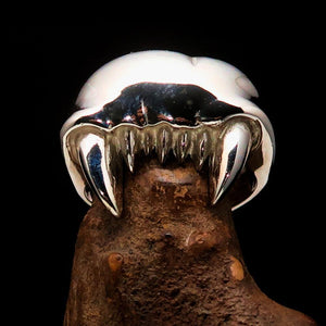 Excellent crafted Men's Zombie Denture Ring - Sterling Silver - BikeRing4u