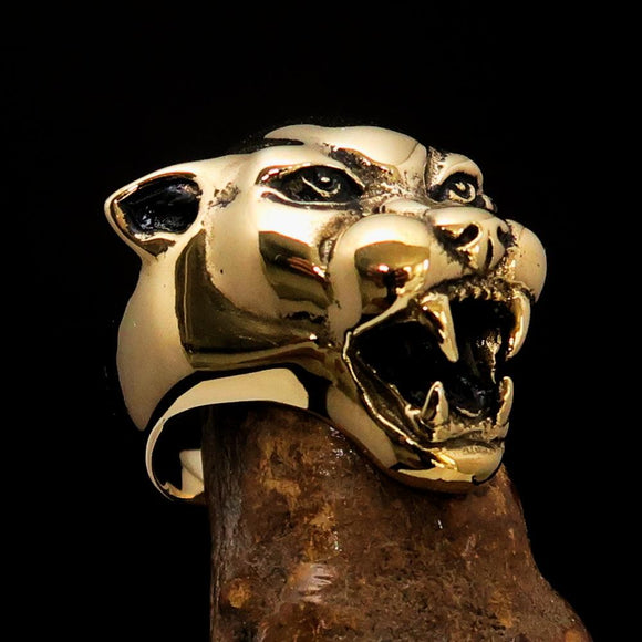 Excellent crafted Men's Animal Ring detailed vicious Panther - BikeRing4u