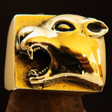 Excellent crafted Men's Panther Ring Antiqued - Brass - BikeRing4u