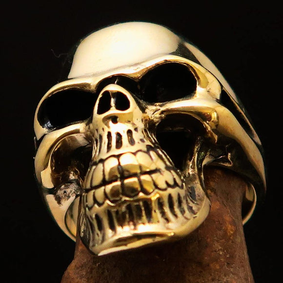 Excellent crafted Men's Biker Phantom Skull Ring - Solid Brass - BikeRing4u