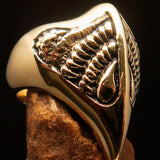 Excellent crafted Men's Firebird Ring ancient Phoenix Solid Brass - BikeRing4u