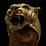 Excellent crafted Animal Ring Tiger Head - Solid Brass - BikeRing4u