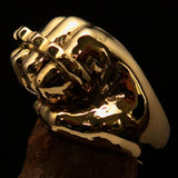 Excellent crafted Biker Ring Knuckle Duster Fist - Solid Brass - BikeRing4u