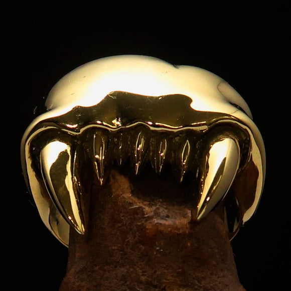 Excellent crafted Men's Zombie Denture Ring - Solid Brass