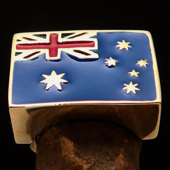 Perfectly crafted Men's Ring Flag of Australia - Solid Brass