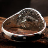 Men's Sterling Silver ancient Greek Tetradrachm Ring Alexander the Great