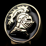 Perfectly crafted Men's Medieval Ring Brave Knight Black - Solid Brass - BikeRing4u