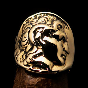 Men's Alexander the Great Tetradrachm Coin Ring - solid Brass - BikeRing4u