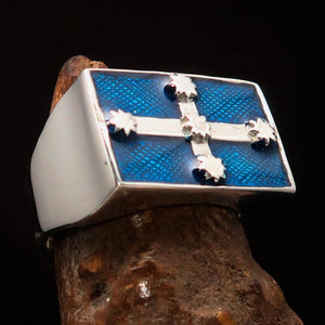 Perfectly crafted Men's Eureka Flag Ring Australian Rebel - Sterling Silver - BikeRing4u