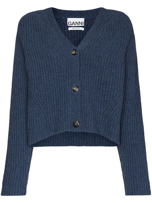 Ganni Soft Wool Knit Cardgian