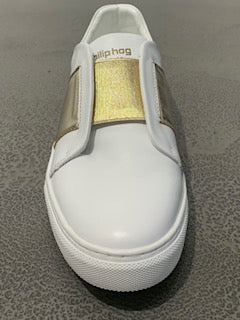 Phillip Hog Slip On White Trainers