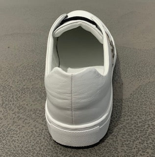 Phillip Hog Slip On White/Zebra Trainers