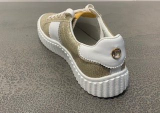Phillip Hog Mila Trainers In Gold Glitter