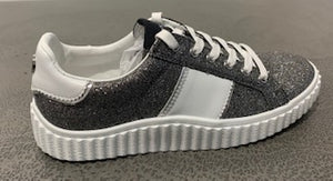 Phillip Hog Mila Trainers In Silver Glitter